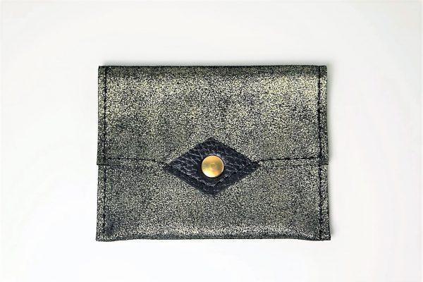 Porte-monnaie / Porte-cartes Noir pailleté