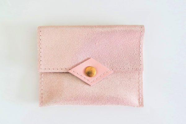 Porte-monnaie / Porte-cartes Rose pailleté