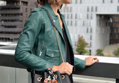 Sac L' ENVOUTANT Noir grainé & son foulard au choix ou son lien en cuir