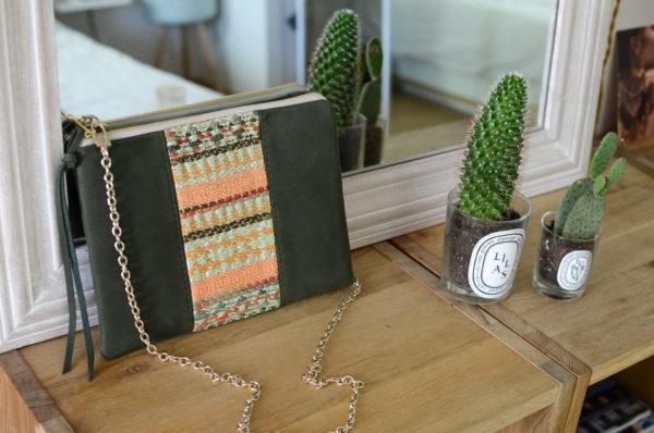 Pochette L'IRRESISTIBLE Vert & Tissage