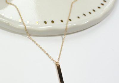 Collier à chainettes doré à l'or 18 carats