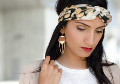 Boucles d'oreilles LES DECHAINEES dorées à l'or 18 carats – Différents coloris au choix