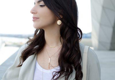 Boucles d'oreilles LES SOLAIRES dorées à l'or 18 carats – Différents coloris au choix