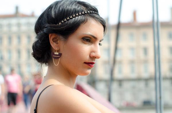Boucles d'oreilles LES BOURGEOISES dorées à l'or 18 carats – Différents coloris au choix