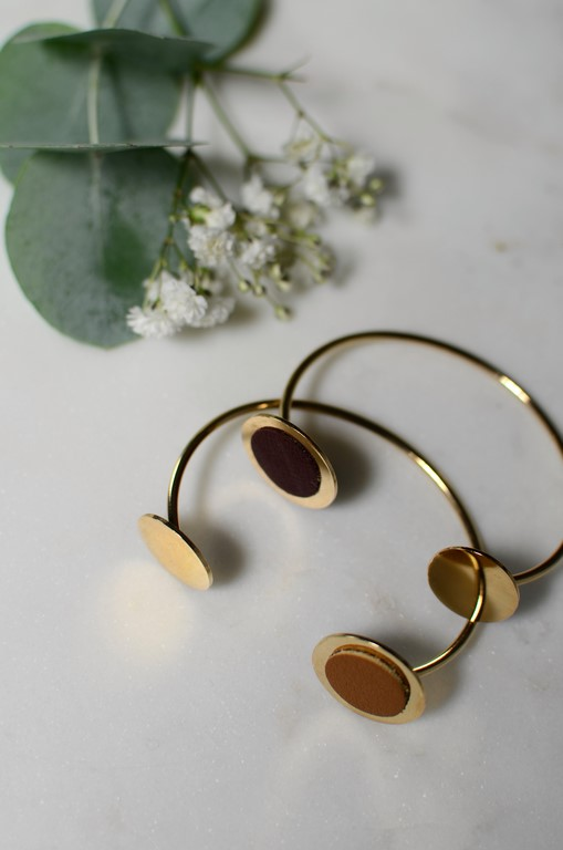 bracelet or cuir atelier amand