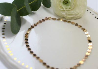 Tour de cou mini disques doré à l'or 18 carats – Ancienne collection