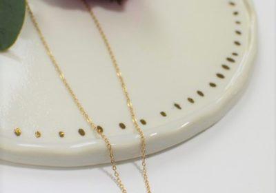 Tour de cou médaille – doré à l'or 18 carats ou plaqué argent