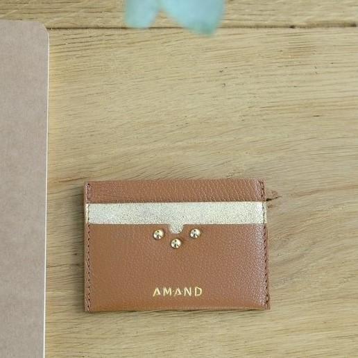 Petite maroquinerie atelier amand porte carte cuir camel