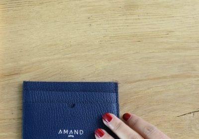 Petite maroquinerie atelier amand porte carte cuir homme marine
