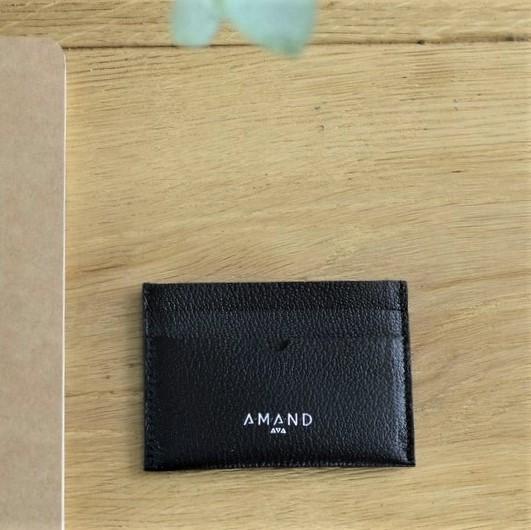 Petite maroquinerie atelier amand porte carte cuir homme noir 1