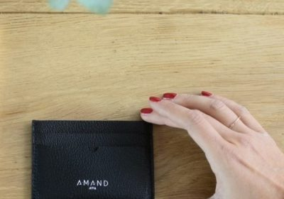 Petite maroquinerie atelier amand porte carte cuir homme noir (Copier)
