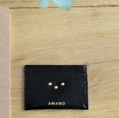 Petite maroquinerie atelier amand porte carte cuir noir