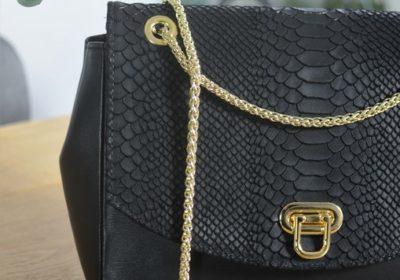 sac atelier amand cuir noir python 2
