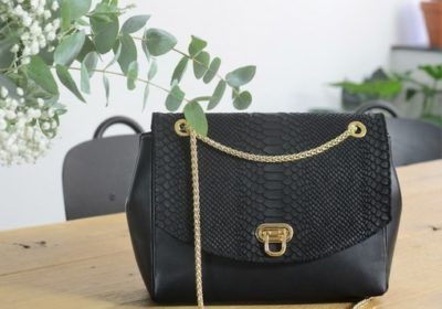sac atelier amand cuir noir python 4 (Copier)