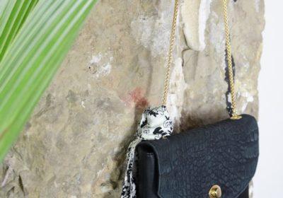 sac le boheme atelier amand cuir noir croco 18