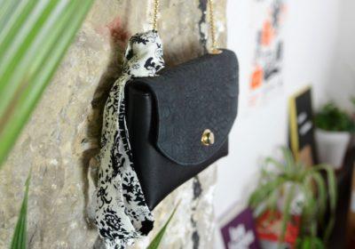 sac le boheme atelier amand cuir noir croco 19