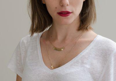 bijoux atelier amand collier mini pampilles