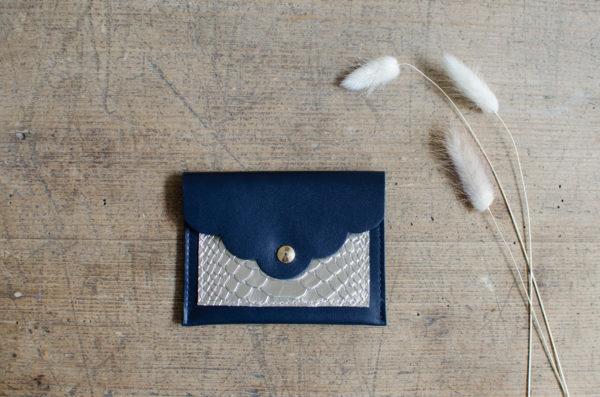 pochette petale atelier amand marine or