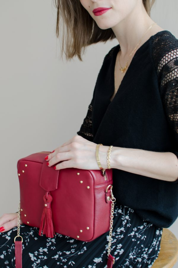 sac atelier amand divin cramberry 1