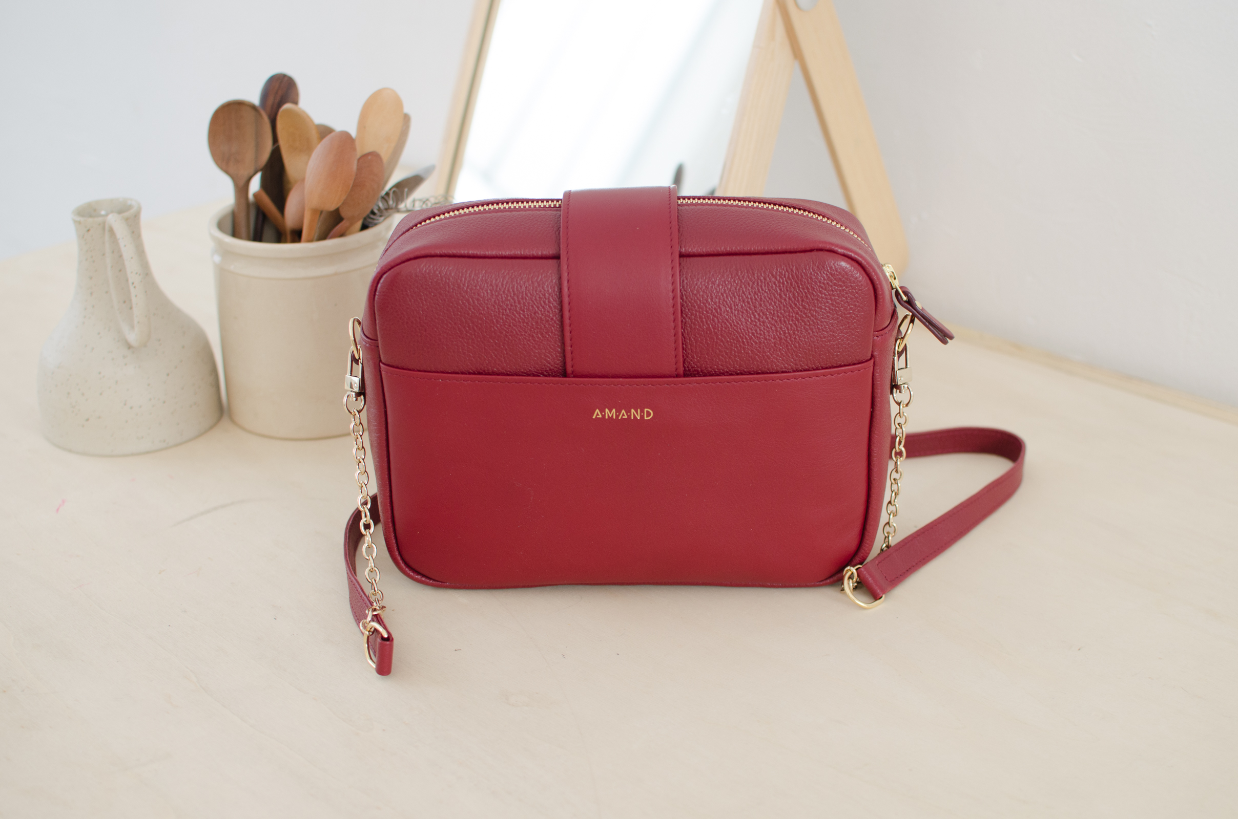 sac atelier amand divin cramberry 4