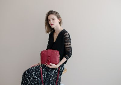 sac atelier amand divin cramberry