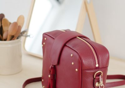 sac atelier amand divin cramberry 5