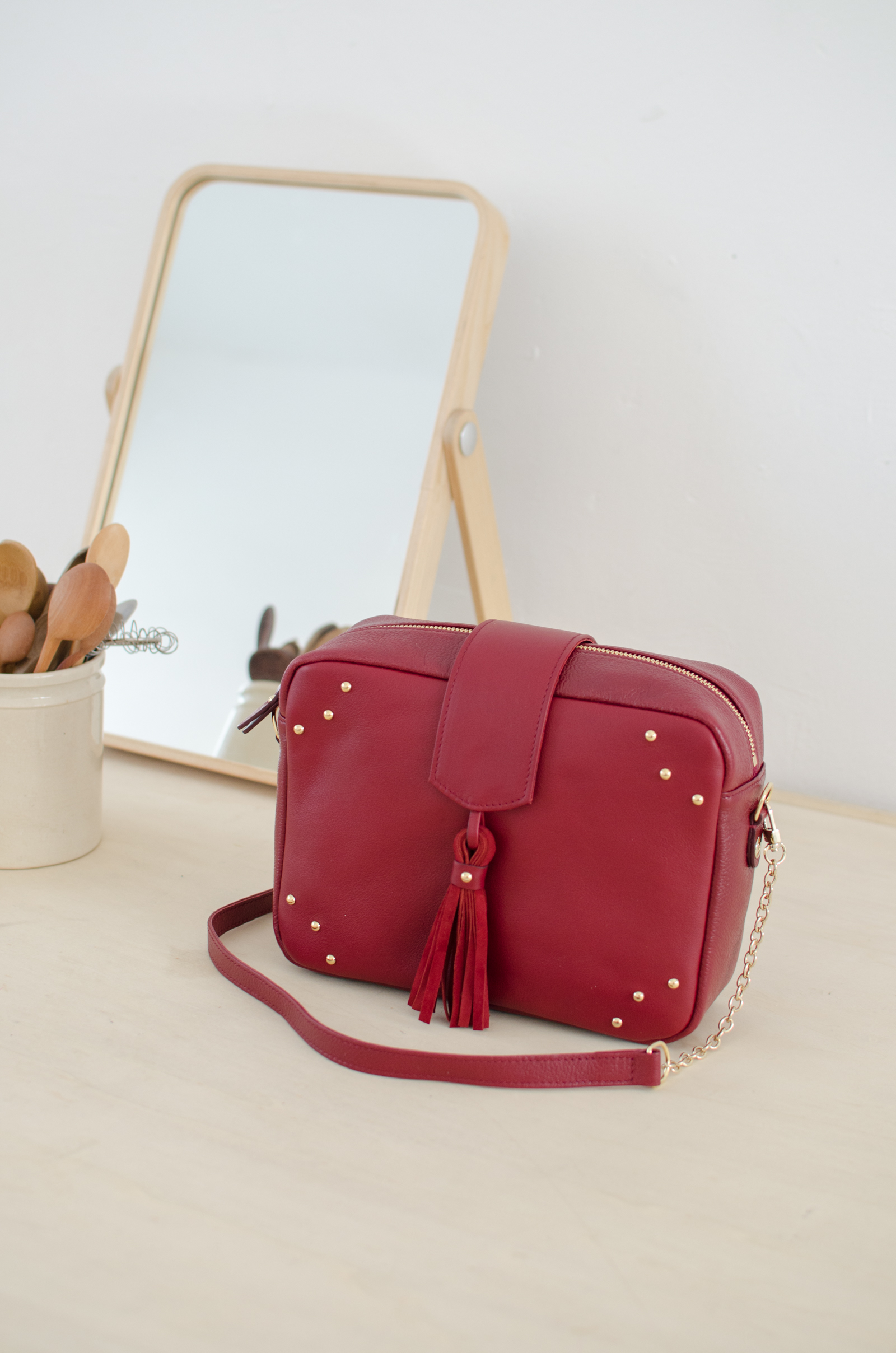 sac atelier amand divin cramberry 6