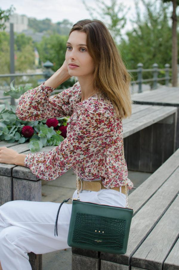 Pochette irresistible vert atelier amand