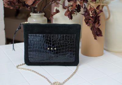 pochette irresistible noir croco 1