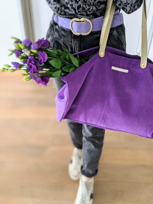 cabas lilas velours amand 3