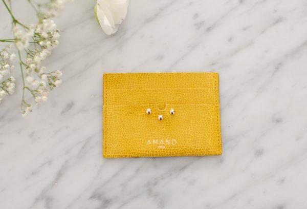 porte cartes amand jaune -2