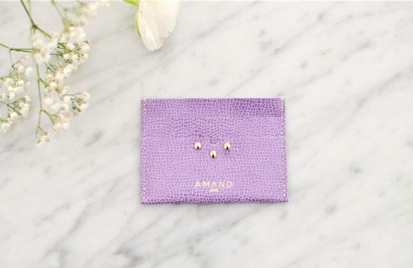 porte cartes amand lilas -2